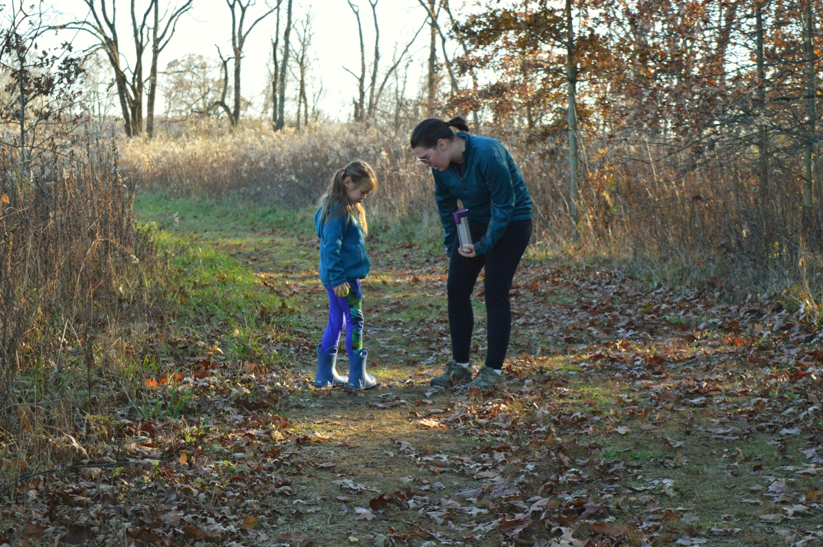 Peaceful moments when hiking with kids