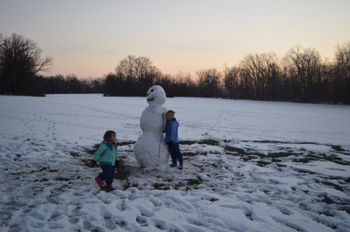 Snowman at Cuyahoga Valley National Park