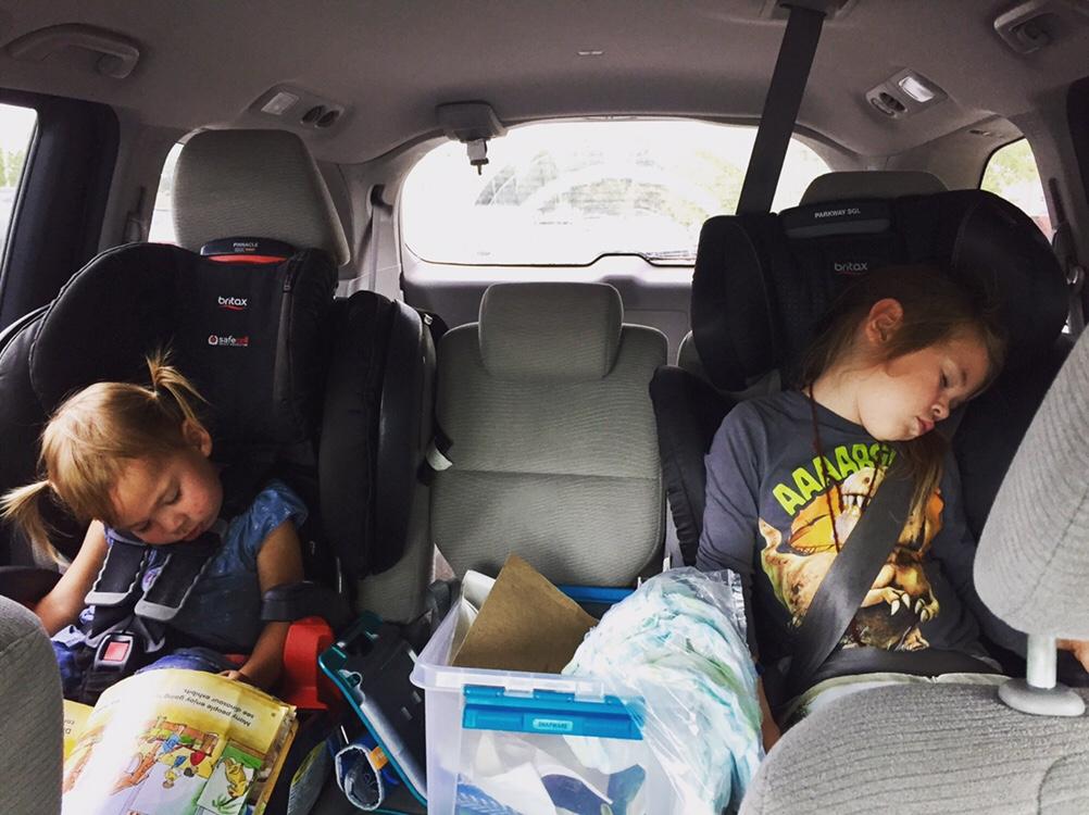 Road Trip sleeping in car